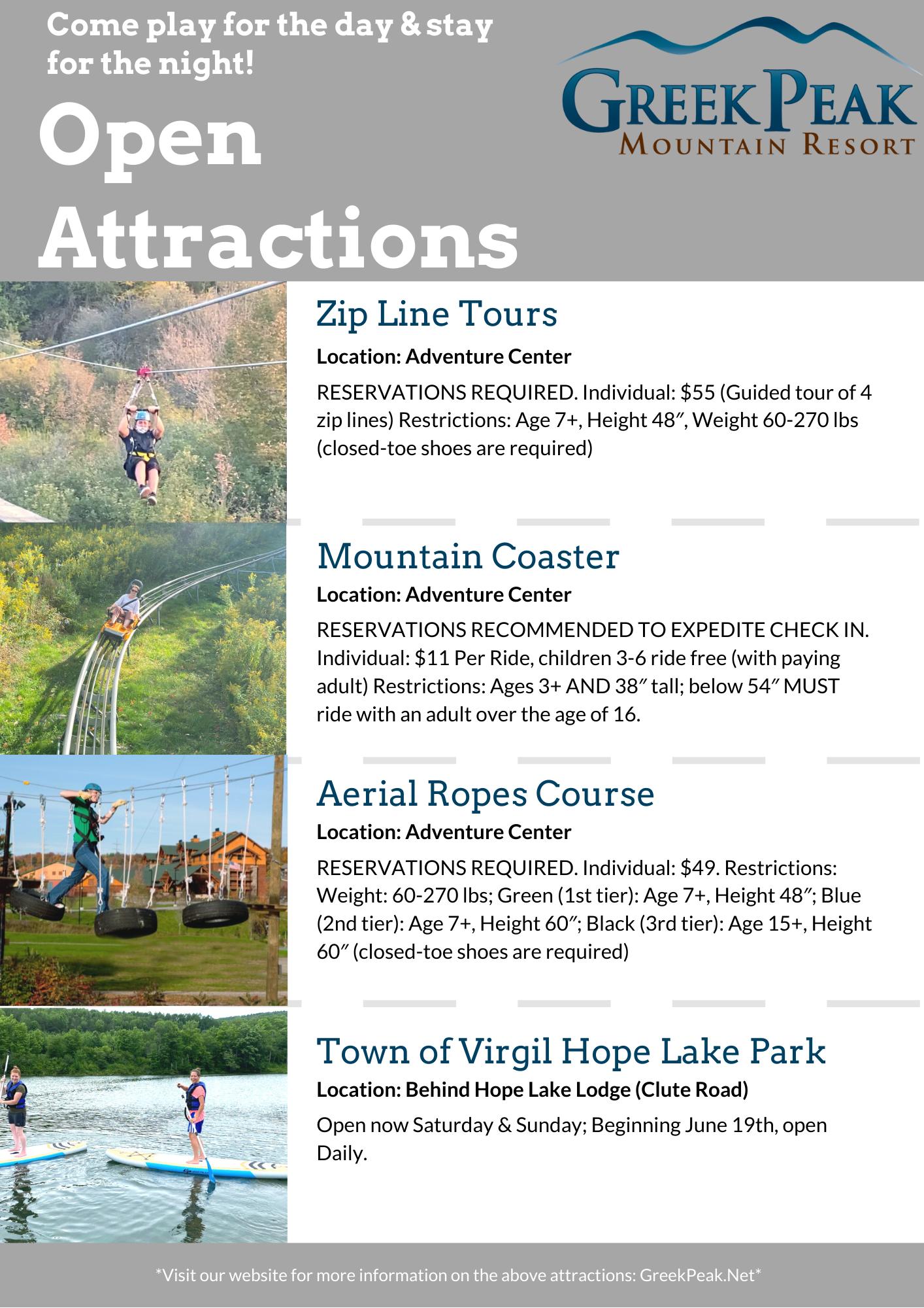open attractions