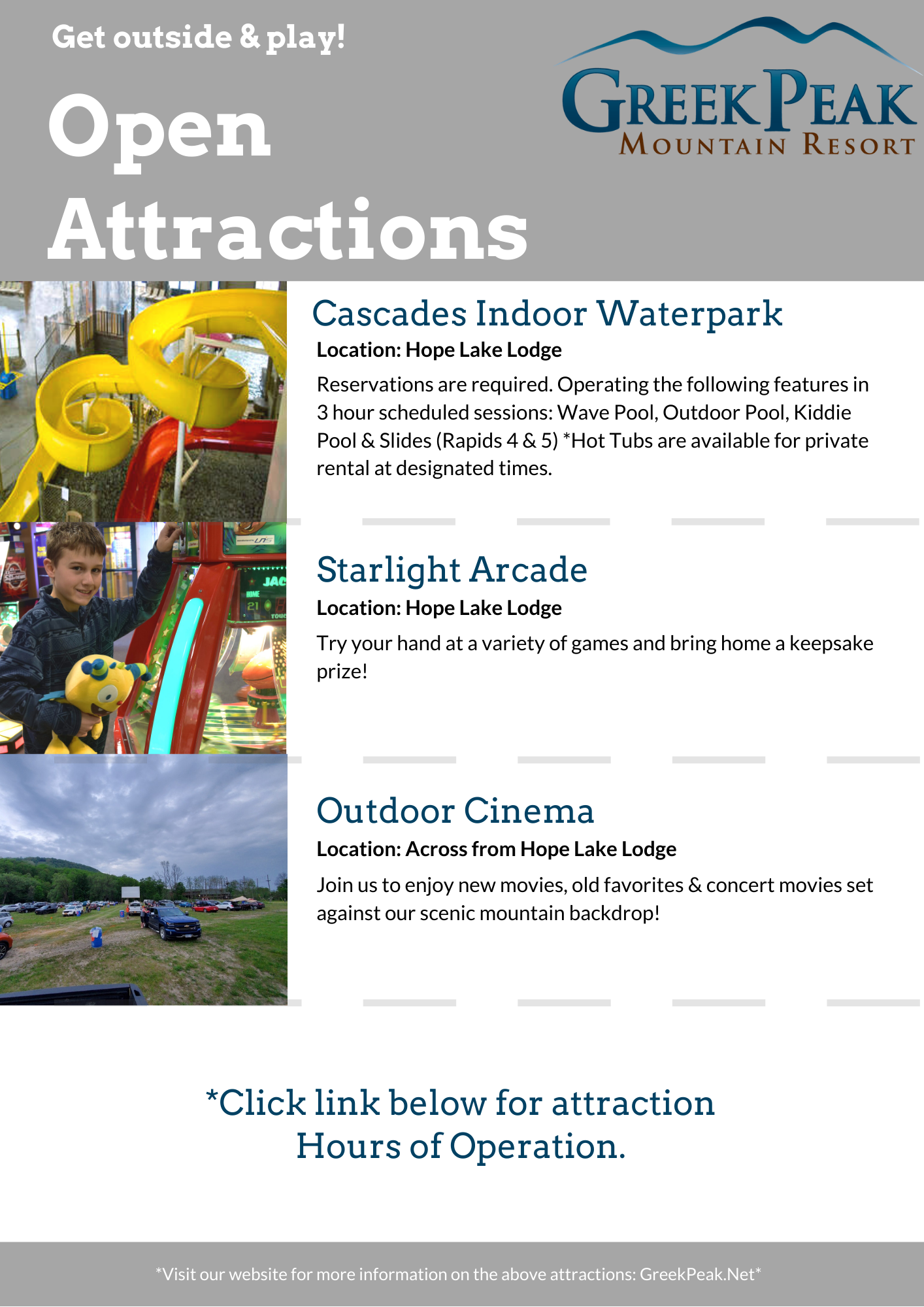 more open attractions